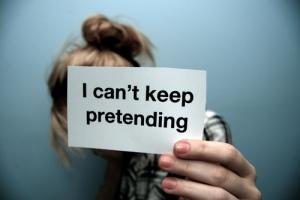 I can't keep pretending