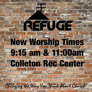 Refuge New Worship Times