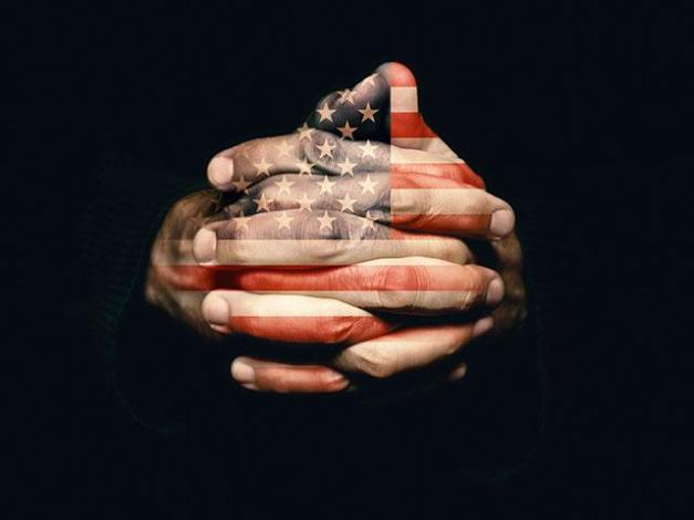 American Hands Praying