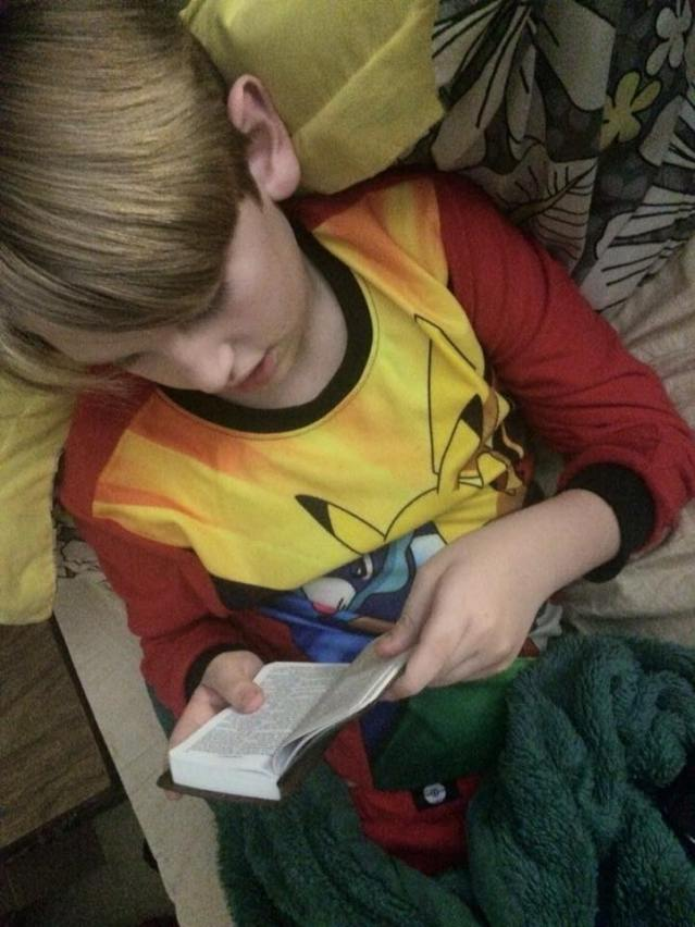 Asher Reading HIs Bible