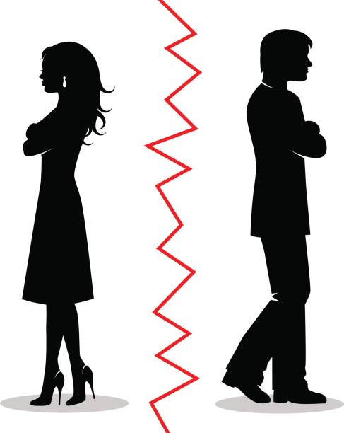 the couple quarreled and turned away from each other